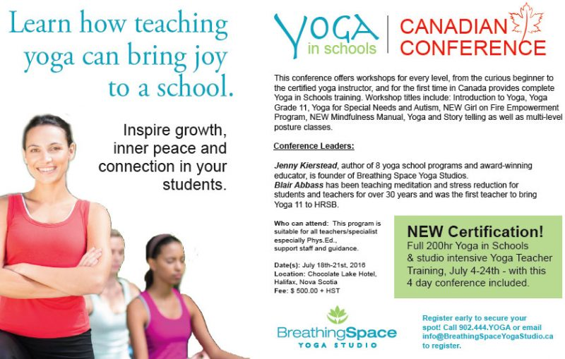 Yoga In Schools Canadian Conference