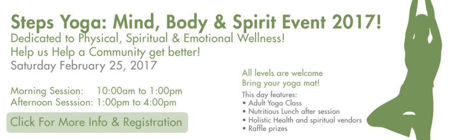 Steps Yoga: Mind, Body & Spirit Event 2017!