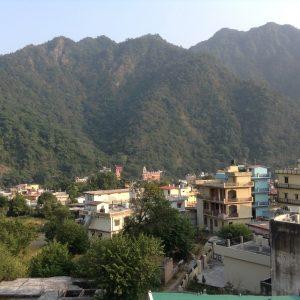 Rishikesh nestled beside the Ganges River
