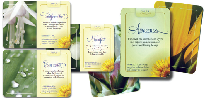 Claim the life you want. Yoga Inner Spirit Reflection Cards